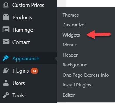Install WordPress widgets